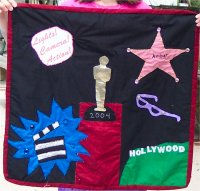 quilt of an oscar award Hollywood quilt