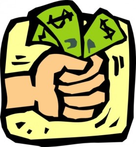 hand holding money clipart